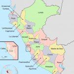 Mapa de los Departamentos del Perú