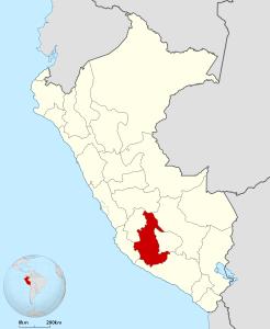 Ubicación del Departamento de Ayacucho
