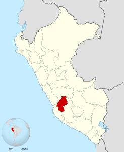 Ubicación del departamento de Huancavelica