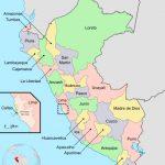 Mapa de los Dptos del Perú - Autor