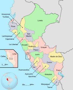 Mapa de los Dptos del Perú