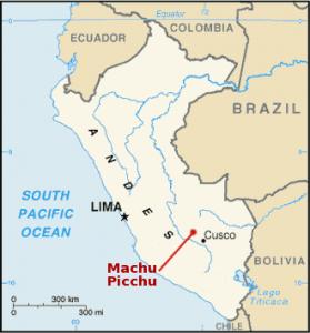 Ubicación de Machu Picchu