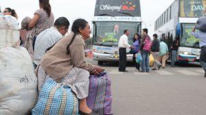 Alza de precios en el transporte interprovincial en Perú.