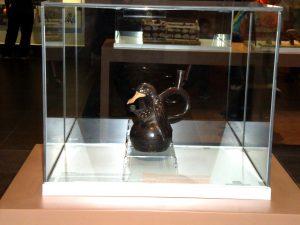 El Pato Guerrero, cerámica representativa del Museo Huacas de Moches en Trujillo.